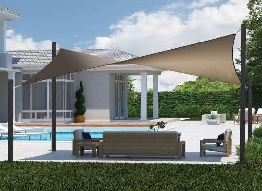Outdoor Sun Shade Sails And Patio, Best Outdoor Shades For Privacy